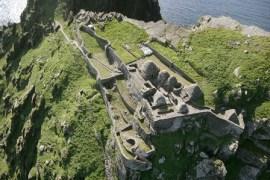 Skellig Michael Co. Kerry Aerial survey works south peak