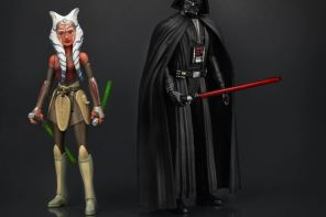 High Rez Image of Ahsoka Tano and Darth Vader Action figures from Hasbro's Star Wars Rebels line!