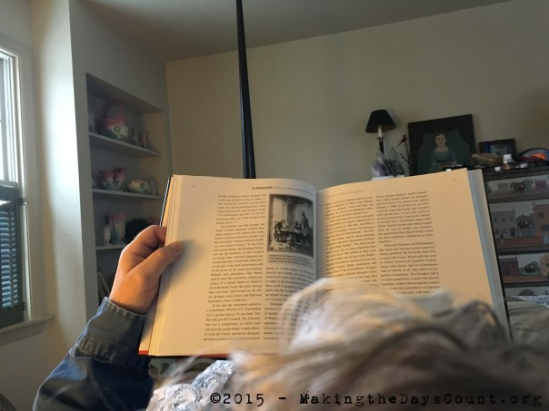 reading in bed, listening to the rain and sleet ping against the window...