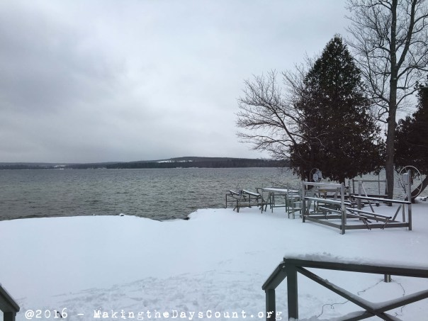 Thursday morning's view of the lake - New Year's Eve 2015