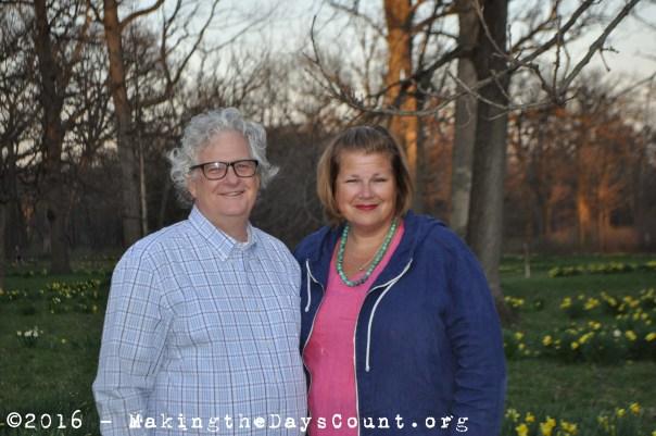 B and I at the Morton Arboretum April 2016