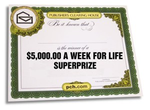 Win Money For Life Sweepstakes With PCH