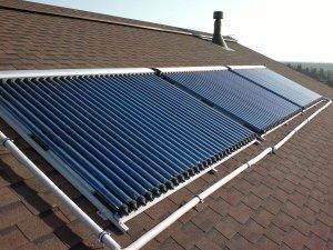 Система отопления на основе солнечного коллектора вакуумного типа