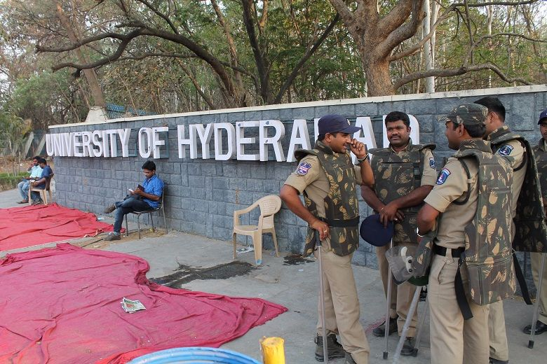 Hyderabad_university_gates_police (2)
