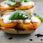 open face caprese sandwich 1