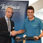 Telefónica refuerza su apoyo al deporte con el patrocinio de Gómez Noya