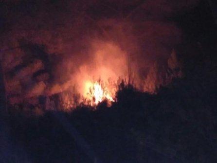 Fuego Anoche Cala Tuent