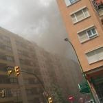 Un incendio en la calle Andreu Feliu de Palma obliga a desalojar varios edificios