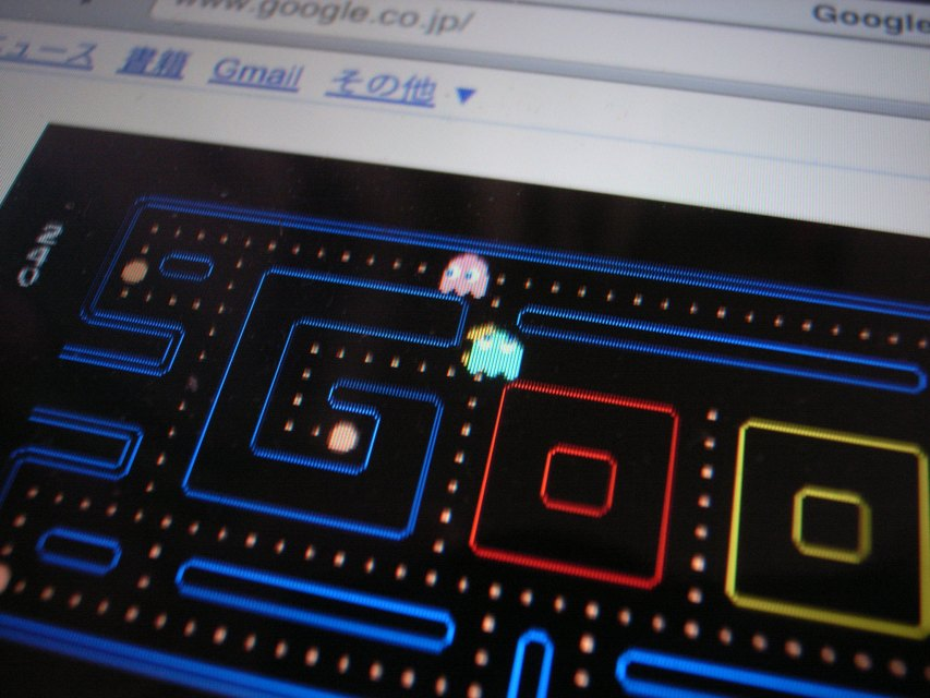 """""""Pacman doodle on iPad"""" by bm.iphone @Flickr"""