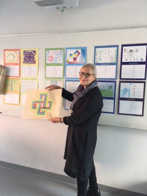 Cecilia Ferrari gav en bakgrund till formteckning och visade exempel från olika årskurser.