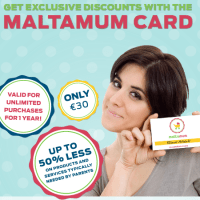 Maltamum Card - Up to 50% less for everything your family needs