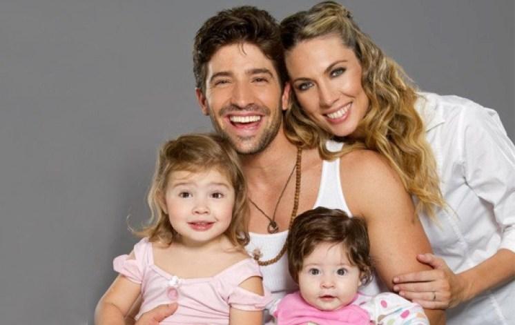 David Chocarro y su familia