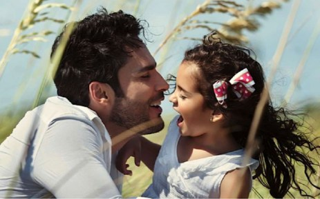 Fabian Rios e hija