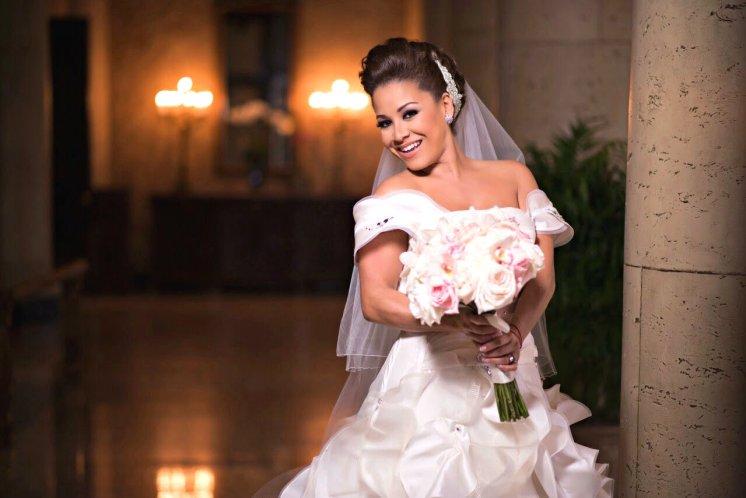 Carolina el día de su boda