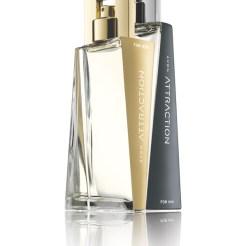 Perfumes Avon Attraction, para hombre y mujer