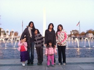 Con mis hIjos en Washington DC
