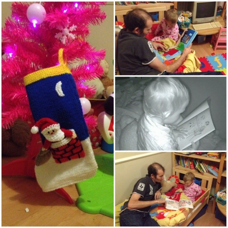 Stocking hanging on the tree - Bedtime stories with Daddy... and after lights out!