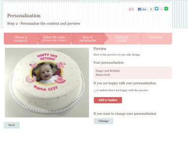 Text personalisation & preview