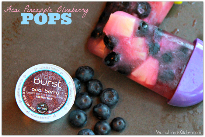 Acai Pineapple Blueberry pops with the best k cup flavors