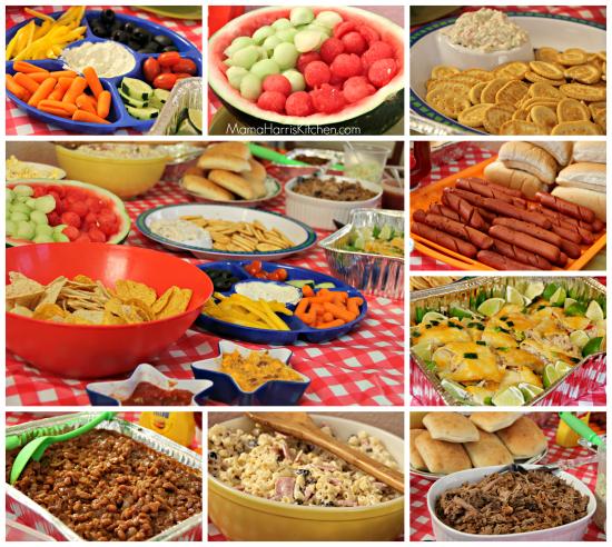 potluck party food
