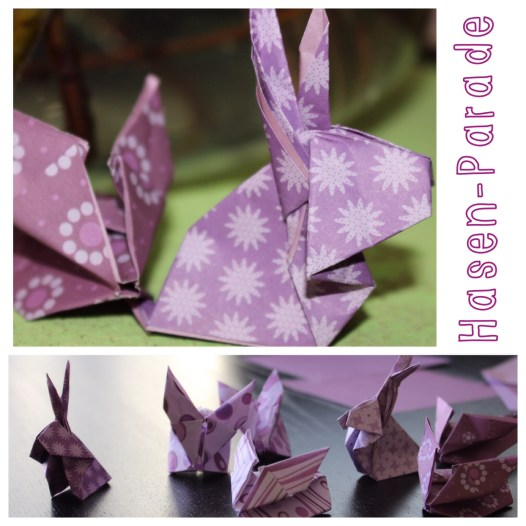 Origami Hasen Ostern