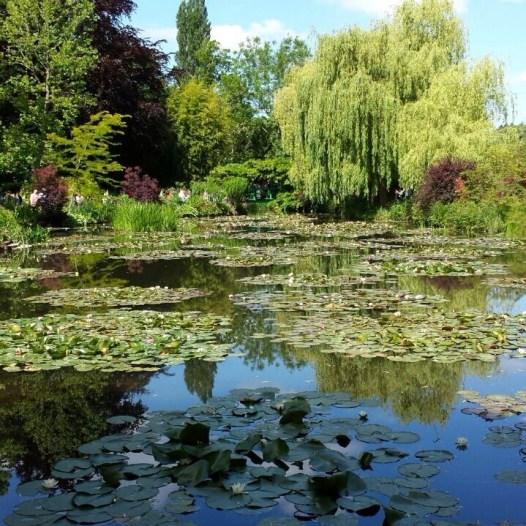 Giverny Monet seerosenteich
