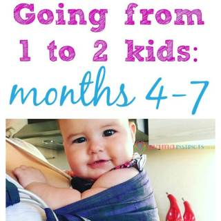 Find out what it's like going from having 1 kid to having 2 kids. Our journey and tips on what got us through during months 4-7 of our new baby's life.