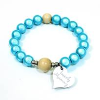 Lovely Mummy bracelet Aqua blue - Aqua blue Lovely Mummy breastfeeding reminder bracelet