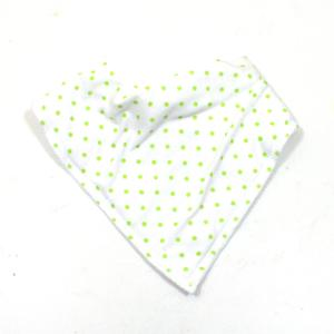 green spot bib - Funky Green Polka Dot Cotton Bandana Bib