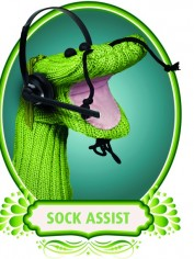This is Sock Assist and this sponsored post is brought to you by Sensis