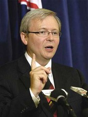 Kevin Rudd has just resigned as Foreign Minister
