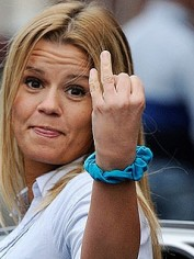 Kerry Katona shows the paparazzi just how single she is