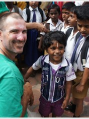 Nick Petrucco and his family walked across India to raise money for children living in poverty.