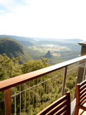 Views from the Sky Lodge balcony. Yes please.