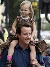 David Cameron and daughter Nancy