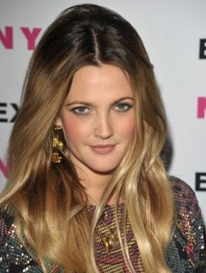 Drew Barrymore Nylon party ombre hair 290x385 Drew Barrymore Nylon party ombre hair