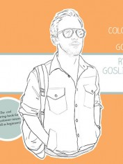 Ryan Gosling Colouring book.