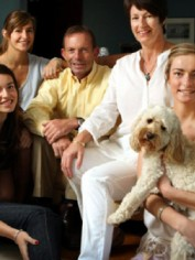 Tony Abbott with his family.