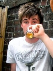 Sean Power on Schoolies drinking beer. (Don't worry he wasn't underage.)