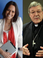 Mia Freedman. George Pell.
