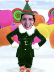 Mary as an elf.