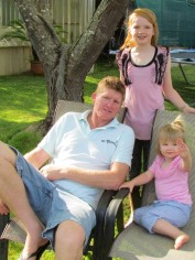 Phil and his two daughters