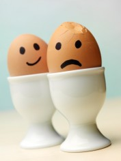 smile frown eggs