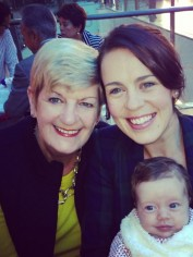 Leah with her mum and baby girl