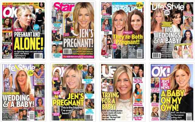 Jen Aniston 1 BLOG: After 16 pregnancies, cant we just leave her alone?