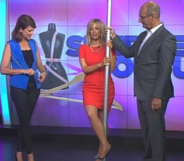 Kochie gives Sam Armytage a stripper pole