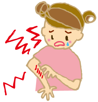 かゆい!突然できた湿疹をかきむしってしまって内出血だらけに