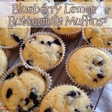 Blueberry Lemon Buttermilk Muffins {Recipe}