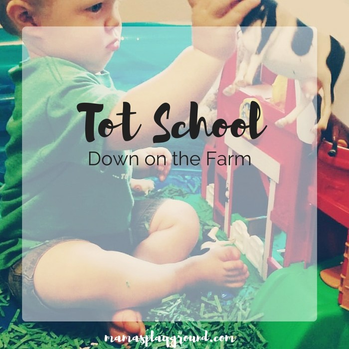 Tot School Down on the Farm Insta