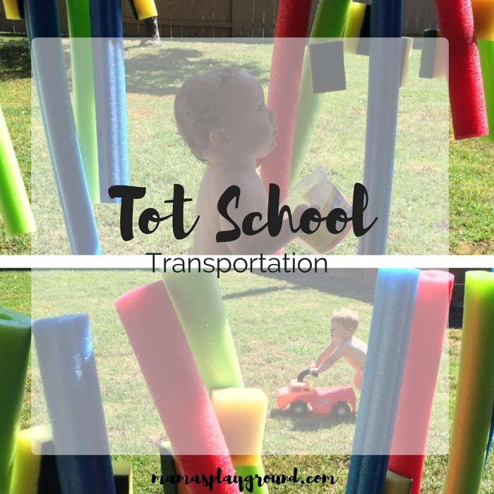 A playful transportation tot school from Mama's Playground.